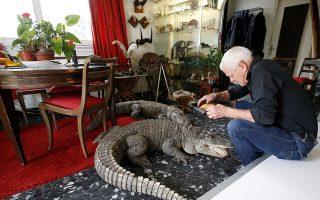 Την αγάπη του για τα ερπετά εκδηλώνει με τον πιο σαφή τρόπο ο 67χρονος Γάλλος Φιλίπ Ζιλέ, καθώς συγκέντρωσε περισσότερα από 400 τέτοια ζώα στο σπίτι του, κοντά στη Νάντη.