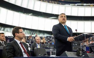 Η αντιπαράθεση μεταξύ του Ούγγρου πρωθυπουργού Βίκτορ Ορμπαν και των ευρωβουλευτών έφτασε σε πολύ οξείς τόνους.
