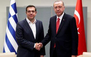 Η συνάντηση του Ελληνα πρωθυπουργού Αλέξη Τσίπρα και του Τούρκου προέδρου Ταγίπ Ερντογάν στη Νέα Υόρκη διήρκεσε περίπου μία ώρα.