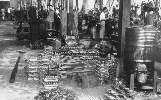 The Chinese people have just entered the fourth year of their war against Japan and they are making super-human efforts to strengthen their air-force, to produce their own armaments, and to train their officers in the methods of modern war. A machine gun factory in Western China are turning out ten to fifteen thousand a month, July 11, 1940. (AP Photo)