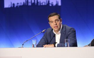 (Ξένη δημοσίευση) Ο πρωθυπουργός, Αλέξης Τσίπρας, μιλάει σε συνέντευξη Τύπου στο πλαίσιο της 83ης Διεθνούς Έκθεσης Θεσσαλονίκης, στο Συνεδριακό Κέντρο