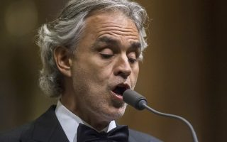 epa06930415 (FILE) - Italian tenor Andrea Bocelli performs during his free concert in St. Stephen's Basilica in Budapest, Hungary, 05 November 2016 (reissued 06 August 2018). World-renowned tenor Andrea Bocelli is expected to perform for Pope Francis at the Festival of Families concert on 25 August in Dublin's Croke Park during the pontiff's two-day visit to Ireland on 25 and 26 August 2018.  EPA/ZSOLT SZIGETVARY HUNGARY OUT *** Local Caption *** 53106054