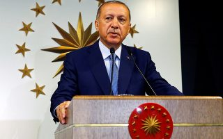 Turkish President Tayyip Erdogan speaks during a news conference in Istanbul, Turkey June 24, 2018. Kayhan Ozer/Presidential Palace/Handout via REUTERS ATTENTION EDITORS - THIS PICTURE WAS PROVIDED BY A THIRD PARTY. NO RESALES. NO ARCHIVE.