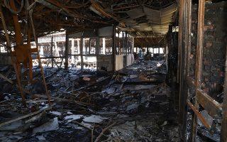 Κατεστραμμένο το εσωτερικό κτιρίου στο Πανεπιστήμιο Ηρακλείου στην Κρήτη, μετά τη χθεσινή πυρκαγιά, που προκάλεσε σοβαρές ζημίες στις εγκαταστάσεις του Πανεπιστημίου. Δευτέρα 24 Σεπτεμβρίου 2018.  ΑΠΕ-ΜΠΕ/ΑΠΕ-ΜΠΕ/Νίκος Χαλκιαδάκης