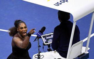 Η Σερίνα Ουίλιαμς ισχυρίστηκε ότι έπεσε θύμα σεξισμού από τον διαιτητή του τελικού του US Open, διχάζοντας την κοινή γνώμη στις ΗΠΑ.