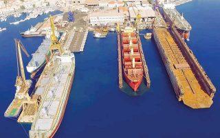 Αυτή τη στιγμή στο Νεώριο φιλοξενούνται για επισκευές και άλλες εργασίες πέντε ποντοπόρα πλοία ταυτοχρόνως. Aπό τον Απρίλιο, οπότε και «μπήκε» η ONEX, έως σήμερα έχουν εξυπηρετηθεί στο ναυπηγείο 32 πλοία και με τους ρυθμούς αύξησης της ζήτησης αναμένεται να ξεπεραστούν τα 75 πλοία το 2018.