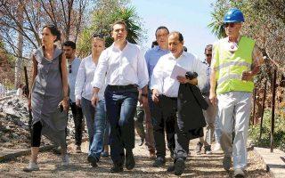 Ο πρωθυπουργός Αλ. Τσίπρας, κατά την επίσκεψή του χθες το πρωί στο Μάτι, έκανε ιδιαίτερη αναφορά στα έργα για την αντιμετώπιση πλημμυρικών φαινομένων.