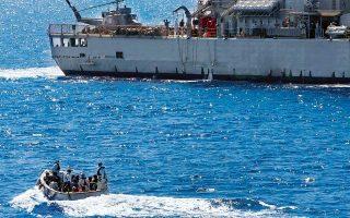Φωτογραφία αρχείου από διάσωση στη Μεσόγειο, το 2016. Οι ροές έχουν μειωθεί δραστικά φέτος, αλλά πολλά εξαρτώνται από την κατάσταση στο εσωτερικό της Λιβύης.