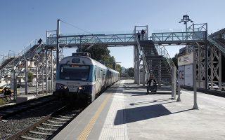 Ο νέος σταθμός του προαστιακού σιδηρόδρομου στον Ταύρο, Τετάρτη 01 Οκτωβρίου 2014. Ο σιδηροδρομικός σταθμός Ταύρου, που τίθεται σε λειτουργία αύριο, αποτελεί τμήμα  του Προαστιακού σιδηρόδρομου μεταξύ Πειραιά - Αθηνών επί της οδού Κωνσταντινουπόλεως 2-4 & Κορυτσάς και εκτιμάται πως θα εξυπηρετήσει μεγάλο αριθμό επιβατών, δεδομένου ότι βρίσκεται σε πυκνοκατοικημένη περιοχή. ΑΠΕ-ΜΠΕ/ΑΠΕ-ΜΠΕ/ΑΛΕΞΑΝΔΡΟΣ ΒΛΑΧΟΣ