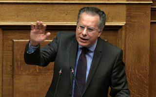 Ο βουλευτής της ΝΔ Γιώργος Κουμουτσάκος μιλάει στη συζήτηση για τη ψήφιση του νομοσχεδίου με τα προαπαιτούμενα για το κλείσιμο της 4ης αξιολόγησης στην Ολομέλεια της Βουλής, Αθήνα, Πέμπτη 14 Ιουνίου 2018. ΑΠΕ-ΜΠΕ/ΑΠΕ-ΜΠΕ/ΣΥΜΕΛΑ ΠΑΝΤΖΑΡΤΖΗ