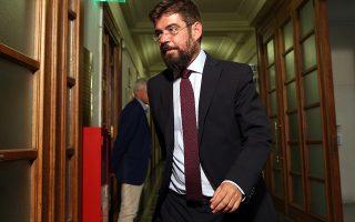 Ο υπουργός Δικαιοσύνης Μιχάλης Καλογήρου εισέρχεται στην αίθουσα του Κοινοβουλίου όπου θα συνεδριάσει το Υπουργικό Συμβούλιο, Αθήνα Παρασκευή 31 Αυγούστου 2018. ΑΠΕ-ΜΠΕ/ΑΠΕ-ΜΠΕ/ΟΡΕΣΤΗΣ ΠΑΝΑΓΙΩΤΟΥ