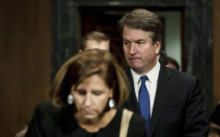 Supreme Court nominee Judge Brett Kavanaugh arrives with his wife Ashley, to testify before the Senate Judiciary committee, Thursday, Sept. 27, 2018 on Capitol Hill in Washington. (Erin Schaff/The New York Times via AP, Pool)