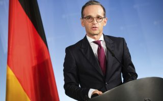 German Foreign Minister Heiko Maas attends a joint news conference with Russian Foreign Minister Sergey Lavrov at the Foreign Ministry in Berlin, Friday, Sept. 14, 2018. (AP Photo/Markus Schreiber)