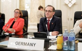 epa06984523 German Foreign Minister Heiko Maas attends the informal meeting of foreign affairs ministers at the Hofburg Palace in Vienna, Austria 30 August 2018. Austria hosts a two-day informal meeting of foreign affairs ministers in Vienna on 30 and 31 August. Austria took over its third Presidency of the European Council from July 2018 until December 2018.  EPA/FLORIAN WIESER