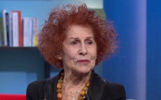 Στιγμιότυπο από συνέντευξη της γνωστής συγγραφέα στην εκπομπή «La Grande Librairie» στο γαλλικό τηλεοπτικό δίκτυο Direct 5.