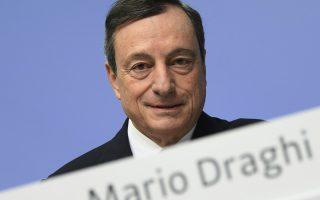 El presidente del Banco Central Europeo Mario Draghi en una conferencia en Francfort, Alemania el 25 de enero del 2018.  (Arne Dedert/dpa via AP)