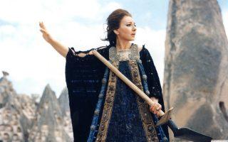 Η Μαρία Κάλλας ως Μήδεια, στην ομώνυμη ταινία του Παζολίνι.
