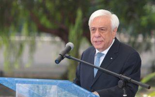 Ο Πρόεδρος της Δημοκρατίας Προκόπης Παυλόπουλος μιλάει κατά την διάρκεια των αποκαλυπτηρίων του Μνημείου Πεσόντων Λιμενικού Σώματος – Ελληνικής Ακτοφυλακής, στο Υπουργείο Ναυτιλίας και Νησιωτικής Πολιτικής, Παρασκευή 20 Ιουλίου 2018. ΑΠΕ-ΜΠΕ/ΑΠΕ-ΜΠΕ/Παντελής Σαίτας