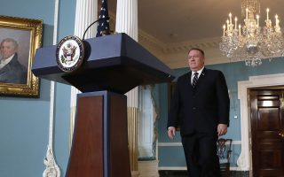Secretary of State Mike Pompeo approachesthe podium to speak about refugees in a statement to the media Monday, Sept. 17, 2018, at the State Department in Washington. (AP Photo/Jacquelyn Martin)