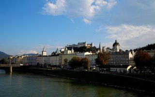 A general view shows the old town and the castle of Salzburg, Austria September 18, 2018.   REUTERS/Leonhard Foeger