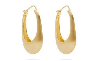 Χρυσοί κρίκοι σε σχήμα δάκρυ €201,00