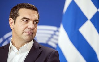 Greek Prime minister Alexis Tsipras atends a press conference after debating the future of Europe with parliament members and commissioners at the European Parliament in Strasbourg, eastern France, Tuesday Sept.11, 2018. (AP Photo/Jean-Francois Badias)