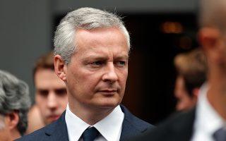 «Είτε θα υπάρξει προϋπολογισμός Ευρωζώνης είτε μια μέρα δεν θα υπάρχει η Ευρωζώνη», δήλωσε ο Γάλλος υπουργός Οικονομικών, Μπρινό Λε Μερ.