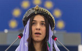 H Νάντια Μουράντ είχε τιμηθεί με το βραβείο Ζαχάροφ στο Ευρωκοινοβούλιο.