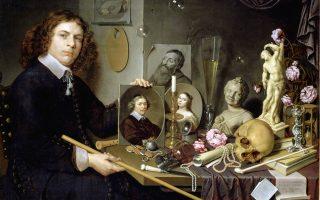 «Αυτοπροσωπογραφία με σύμβολα της ματαιότητας της ζωής» (1651). Εργο του Ολλανδού Ντέιβιντ Μπέιλι (1584-1657).