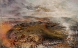 «Απουσία». Εργο του Νίκου Κρανάκη από την ατομική έκθεση «Desert Landscapes». Αίθουσα τέχνης ena contemporary, Βαλαωρίτου 9Γ, Κολωνάκι. Διάρκεια έκθεσης: έως 10 Νοεμβρίου.