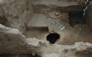 Τμήμα οικίας από την ανασκαφή στην Τούμπα της Θεσσαλονίκης, για την οποία θα μιλήσει ο ομότιμος καθηγητής Στέλιος Ανδρέου.