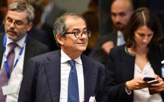 Ο Ιταλός υπουργός Οικονομικών Τζοβάνι Τρία υποσχέθηκε πως η κυβέρνηση της χώρας του θα κάνει ό,τι χρειαστεί για να επαναφέρει την ηρεμία στις αγορές, αν οι κραδασμοί των τελευταίων ημερών πυροδοτήσουν μια οικονομική κρίση.