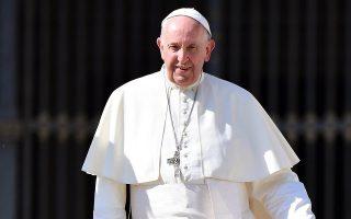 Ο Πάπας Φραγκίσκος κατά την εβδομαδιαία γενική ακρόαση.