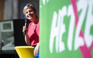 Η συμπρόεδρος των Πρασίνων στη Βαυαρία Καταρίνα Σούλτσε. Το κόμμα διεμβολίζει τους Χριστιανοκοινωνιστές και τους Σοσιαλδημοκράτες.