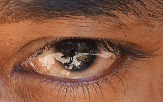 «Ο οφθαλμός». Μία από τις φωτογραφίες του Κώστα Ζαφειρόπουλου στην Εθνική Βιβλιοθήκη.