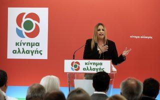 Για «αυτοκάθαρση» του κόμματός της έκανε λόγο η Φώφη Γεννηματά.