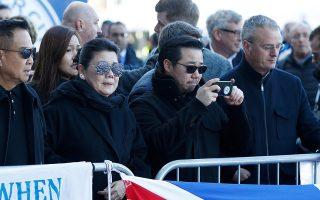 Ο γιος του εκλιπόντος Βιτσάι, Τοπ, με τη μητέρα του Αϊμόν μετέβησαν στο σημείο την Κυριακή.