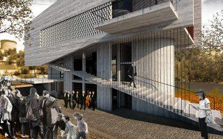 Δημοτικό Ωδείο στη Γλυφάδα. αρχιτέκτονες: Τίνα Καραλή, Δήμος Γλυφάδας, συνεργάτης: Θάνος Μπαμπανέλος