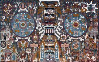Το χαρακτηριστικό μωσαϊκό της κεντρικής βιβλιοθήκης στην Πανεπιστημιούπολη της Πόλης του Μεξικού, σχεδιασμένο από τον διάσημο Μεξικανό ζωγράφο Χουάν Ο'Γκόρμαν. © Bleecker Street/AP