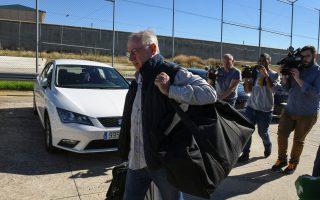 Former International Monetary Fund chief Rodrigo Rato arrives to enter prison in Soto del Real, Spain, October 25, 2018.   REUTERS/Stringer