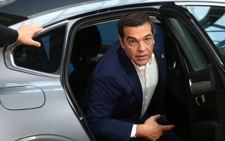 Greek Prime Minister Alexis Tsipras arrives for the European Union leaders summit in Brussels, Belgium, October 18, 2018. Francois Walschaerts/Pool via REUTERS