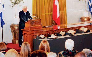 O Πρόεδρος της Δημοκρατίας εγκαινίασε την έκθεση και μίλησε με γνώση και στοργή για τα βιβλία.