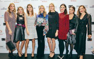 Από αριστερά, Ελίνα και Μαριάννα Σμπώκου, Λάουρα Λαλαούνη, Μαριάννα Γουλανδρή, Εμιλυ Βαφειά, Λένα Οικονομίδη, Αλίκη Λαμπροπούλου και Χαρά Καίσαρη.