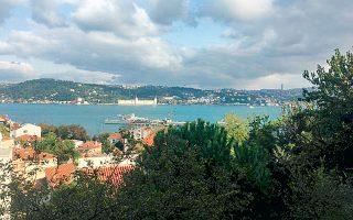 Η θέα προς τον Βόσπορο από το Κουρού Τσεσμέ σήμερα.