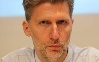 Ο  Ακης Σκέρτσος  συμμετέχει σε συνέντευξη τύπου για το συνέδριο του ΣΕΒ με θέμα