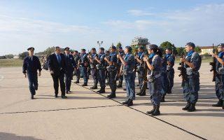 (Ξένη Δημοσίευση)   Ο υπουργός Εθνικής Άμυνας Πάνος Καμμένος συνοδευόμενος από τον Αρχηγό ΓΕΑ Αντιπτέραρχο (Ι) Χρήστο Χριστοδούλου, εγκαινίασε τον παιδικό σταθμό της 116 Πτέρυγας Μάχης, στον Άραξο, την Παρασκευή 5 Οκτωβρίου 2018. Νωρίτερα, ο υπουργός Εθνικής Άμυνας επισκέφθηκε την 336 Μοίρα όπου συνομίλησε με το ιπτάμενο προσωπικό και στη συνέχεια μετέβη στη Μοίρα Συντήρησης Βάσης όπου απηύθυνε χαιρετισμό στο τεχνικό προσωπικό.  ΑΠΕ- ΜΠΕ/ ΓΡΑΦΕΙΟ ΤΥΠΟΥ ΥΠΕΘΑ /STR