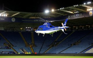 FILE PHOTO: Britain Soccer Football - Leicester City v Chelsea - Barclays Premier League - King Power Stadium - 14/15 - April 29, 2015  General view as a helicopter lands in the stadium at the end of the match  Reuters/Darren Staples/File Photo  EDITORIAL USE ONLY. No use with unauthorized audio, video, data, fixture lists, club/league logos or