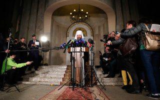 O Μητροπολίτης Ιλαρίων δήλωσε ότι «η Ρωσική Ιερά Σύνοδος δεν είχε άλλη επιλογή παρά να διασπάσει τους δεσμούς με το Πατριαρχείο στην Κωνσταντινούπολη»