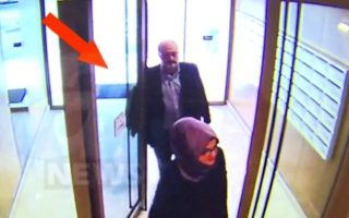 A Still image taken from CCTV video and obtained by A News claims to show Saudi journalist Jamal Khashoggi and his fiancee entering their residence on the day he disappeared in Istanbul, Turkey October 2, 2018. Courtesy A News/Handout via REUTERS ATTENTION EDITORS - THIS PICTURE WAS PROVIDED BY A THIRD PARTY. MANDATORY CREDIT. NO RESALES. NO ARCHIVE. TURKEY OUT.