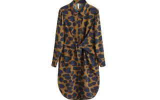 Φόρεμα πουκαμίσα με animal print €39,99